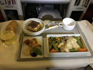 AF275便 2回目の食事