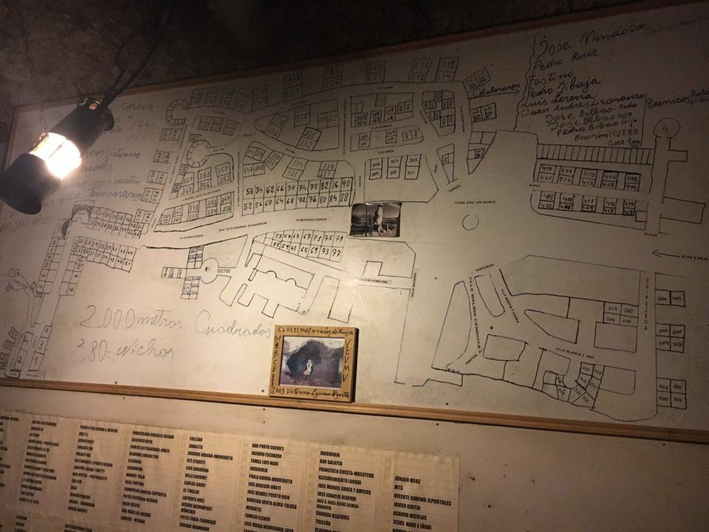 貯蔵庫の地図